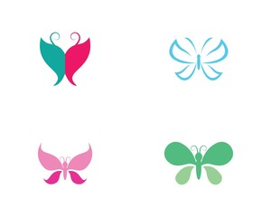Butterfly logo template vector icon