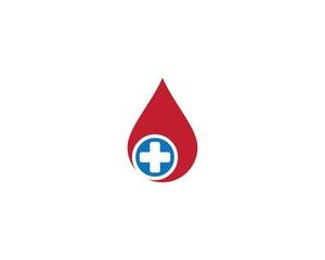Blood logo template vector icon illustration