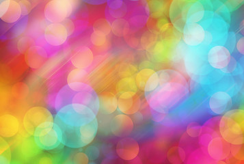 Many colorful transparent light bubbles