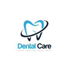 dental logo and icon vector illustration design template