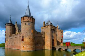 Photo sur Aluminium Chateau Muiderslot Castle, Muiden, The Netherlands