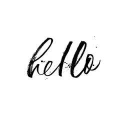 Hello phrase. Modern vector brush calligraphy.