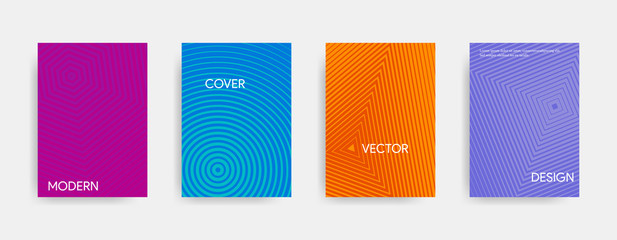 Modern abstract cover design. Geometric colorful gradient. Vector illustration.