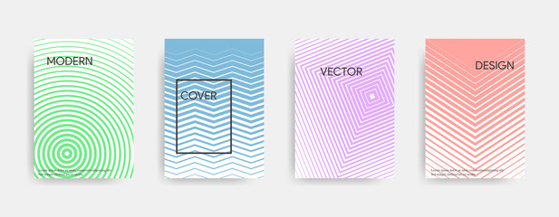 Minimalistic abstract cover design. Geometric colorful gradient. Vector illustration.