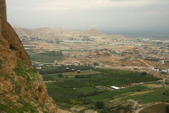 Mount of Temptation of Jesus Christ in near Jericho.