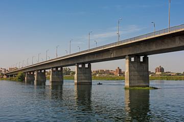 Large bridge over nile river at Kom Ombo