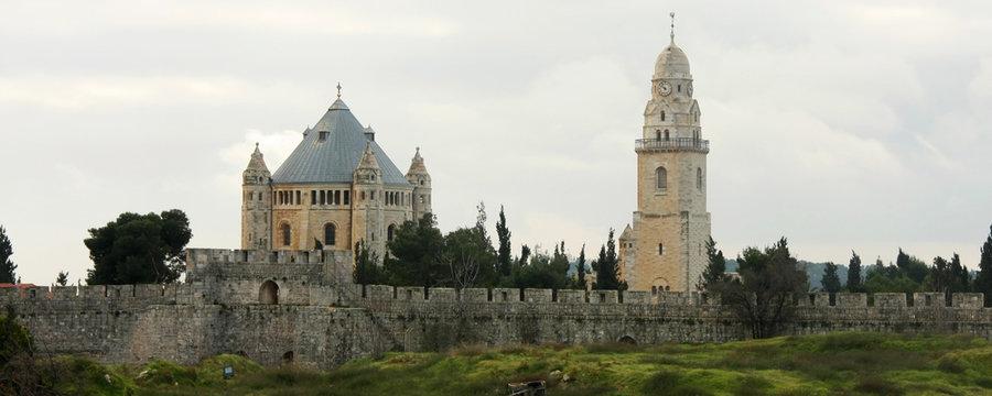 Catholic monastery on Mount Zion in the center of Jerusalem.