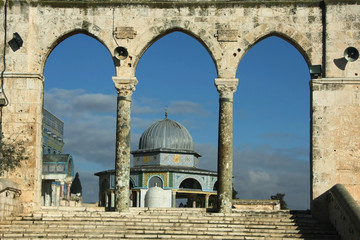 Arch in Arabic style on the Temple Mount