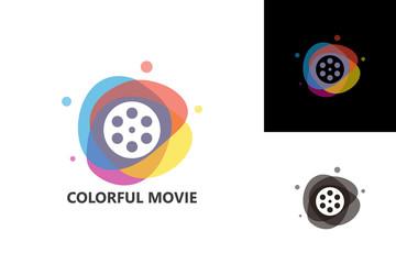 Colorful Movie Logo Template Design Vector, Emblem, Design Concept, Creative Symbol, Icon