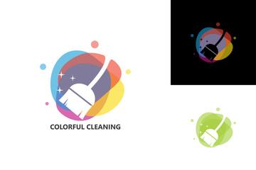 Colorful Cleaning Logo Template Design Vector, Emblem, Design Concept, Creative Symbol, Icon