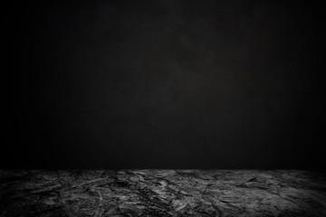 Fototapete - rock floor table with dark background