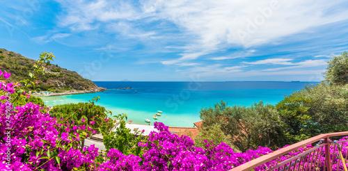 Wall mural Landscape with Cavoli beach of Elba island, Tuscany, Italy