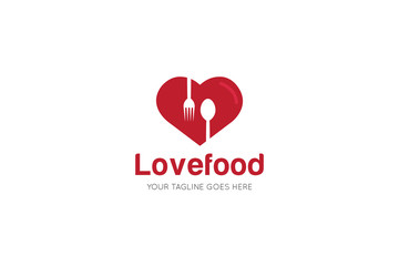 love food logo and icon vector design template