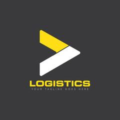 truck logistics logo and icon vector design template