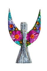 Romanian decorative handicraft product, wooden angel.