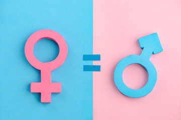 Female and male signs