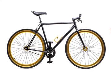 City bicycle monospeed isolated on white background