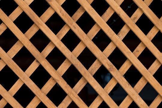 lattice wooden walls