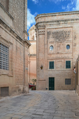 Street in old city Mdina, Malta