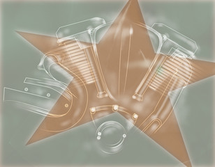 Motorbike Engine Background