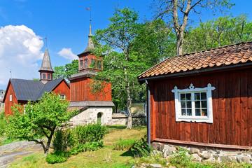 Alte Kirche in Fagervik in der Gemeinde Inkoo, Finnland