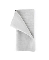 Fabric napkin for table setting on white background