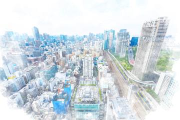 東京の都市風景 Tokyo city skyline , Japan
