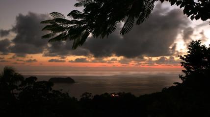 Sunset over Manuel Antonio