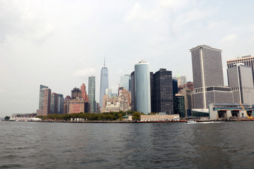 Wall Murals Sydney New York City panorama with Manhattan Skyline.
