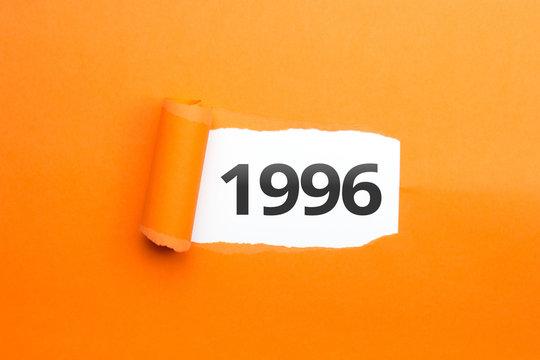 surprising Number / Year 1996 orange background