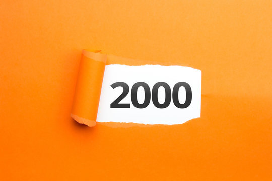 surprising Number / Year 2000 orange background