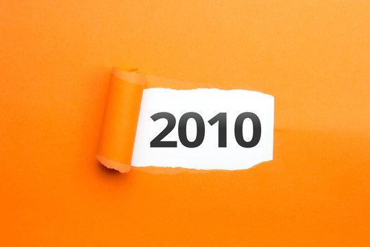 surprising Number / Year 2010 orange background