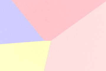 Rainbow Pastel abstract geometrical background with Melon, Tulip, Pastel Yellow, Maximum Blue Purple colors, watercolor paper texture