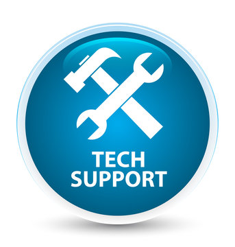 Tech support (tools icon) special prime blue round button