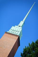 Turm der Mikael Agricola Kirche in Helsinki, Finnland