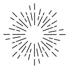 Sunburst Ornament - Element Vector