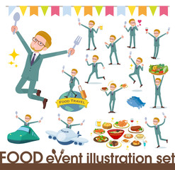 flat type blond hair businessman_food festival