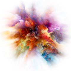 Painted Color Splash Explosion