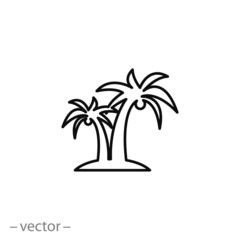 palm icon, vector illustration