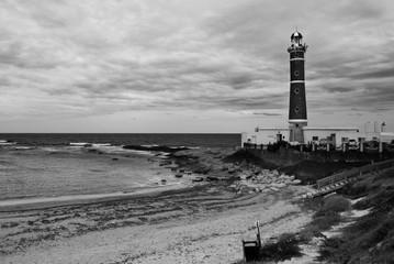 Foto op Canvas Zuid-Amerika land Jose Ignacio beach and lighthouse
