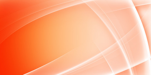 Orange Abstract background with curves lines