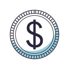 saving money coin cartoon