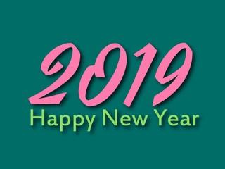 Happy new year 2019 vector illustrator