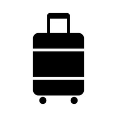 Carry-on luggage or cabin luggage flat vector icon for travel apps and websites