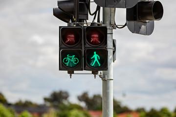 Pedestrian and cyclist traffic signal - Go