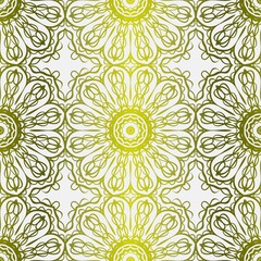 Seamless Floral Ornament. For Print, Tablecloth, Fabric. Vector illustration. Gold color