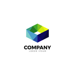 Colorful Abstract Square Logo