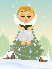 cute angel at Christmas