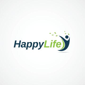 Happy Life People Logo Symbol