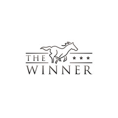 WebSimple Line Art Horse Race Logo Symbol
